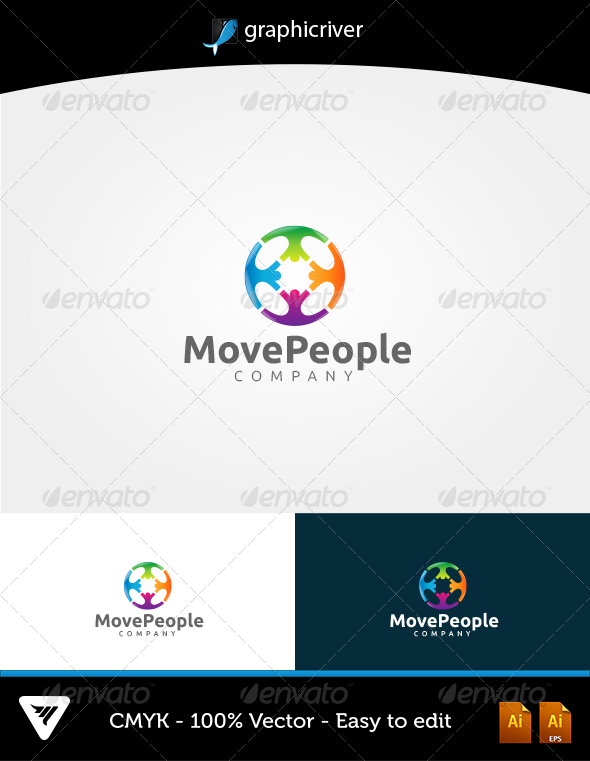 GraphicRiver MovePeople Logo 6446702