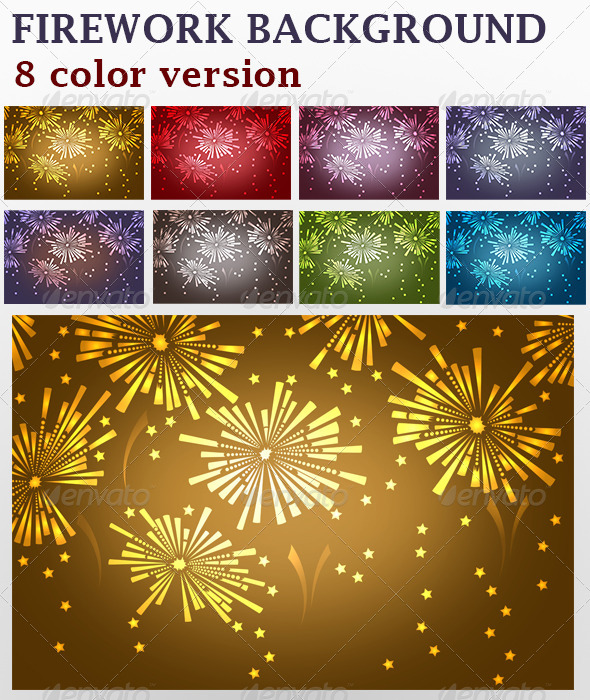 GraphicRiver Firework Backgrounds 6446918