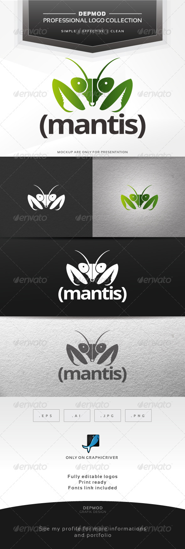 GraphicRiver Mantis Logo 6447022
