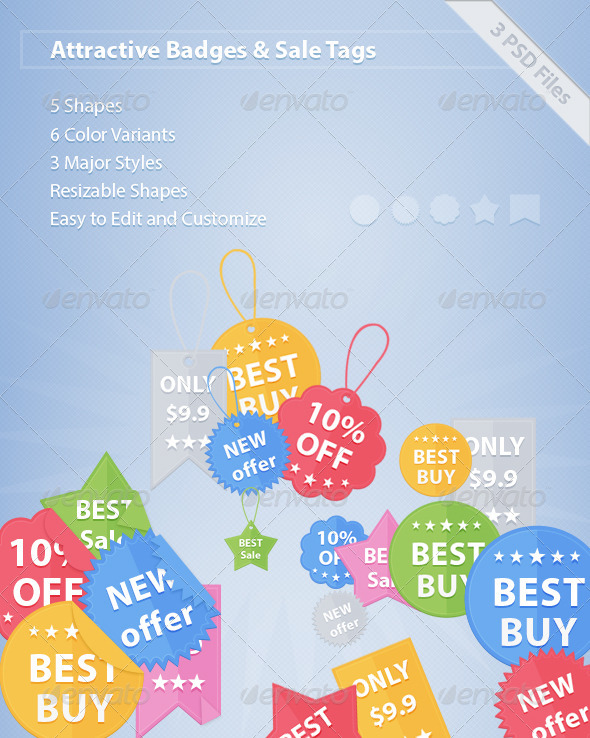GraphicRiver Badges and Sale Tags 6411179