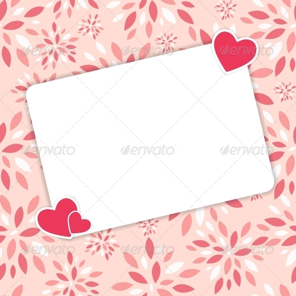 GraphicRiver Valentines Day Heart Background Vector 6447190