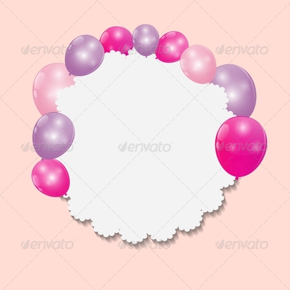 GraphicRiver Color Glossy Balloons Background Vector 6447207