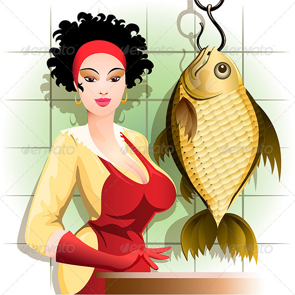 GraphicRiver Cooking the Fish 6447472