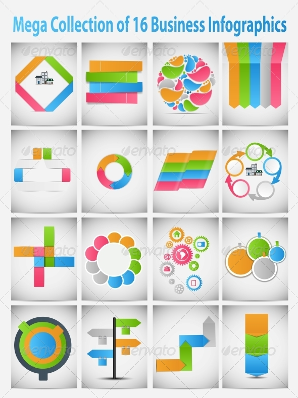 GraphicRiver Mega Collection of Business Infographics 6447501