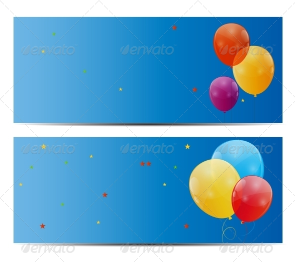 GraphicRiver Color Glossy Balloons Background Vector 6447520