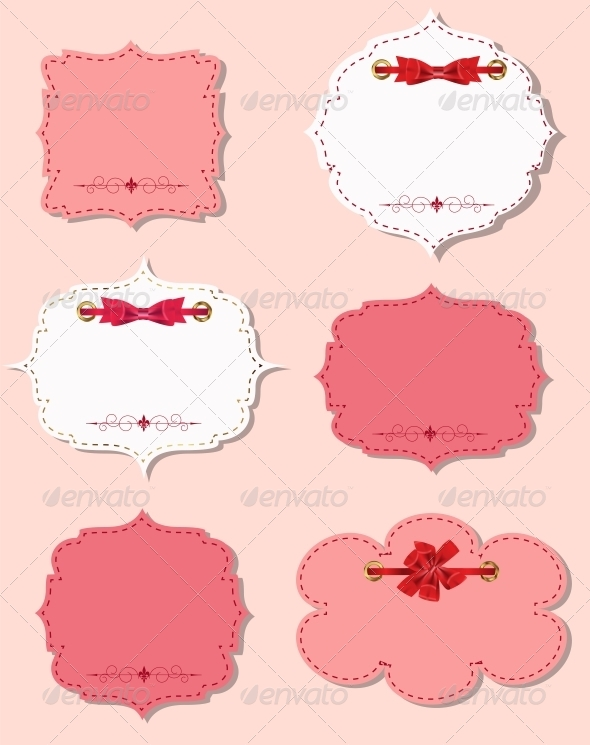 GraphicRiver Set of Different Gift Cards with Ribbons 6447542