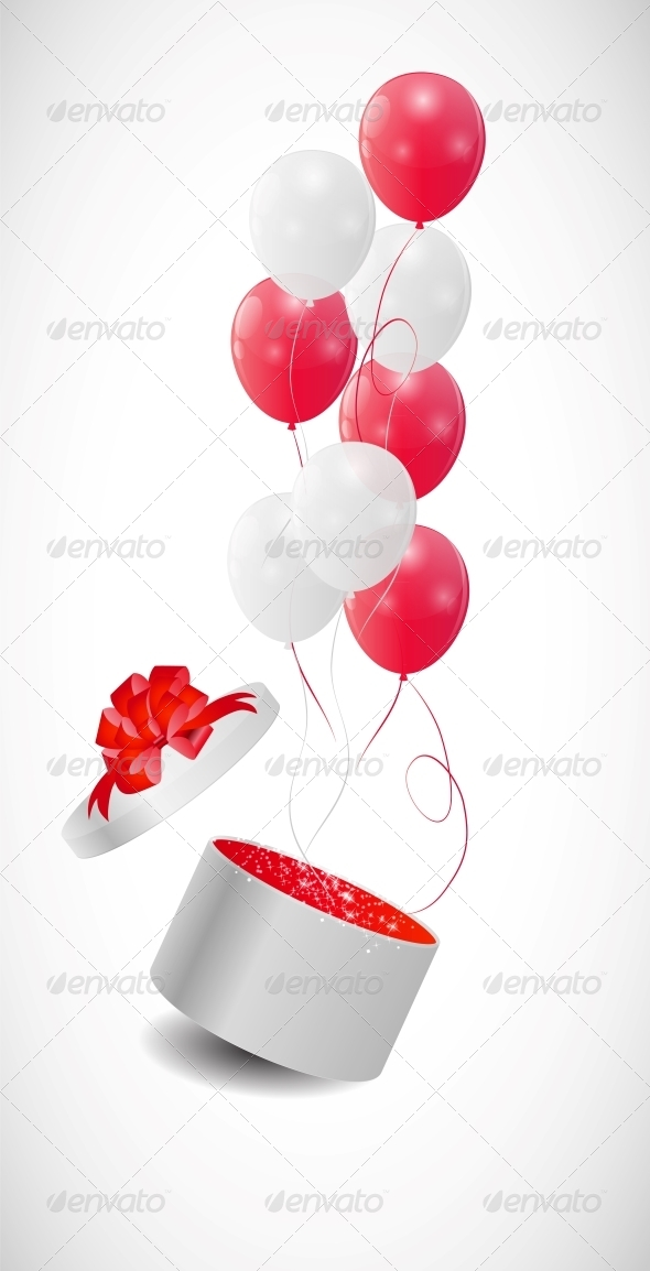 GraphicRiver Color Glossy Balloons Background Vector 6447567