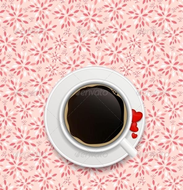 GraphicRiver Coffee Invitation Background Vector 6447579