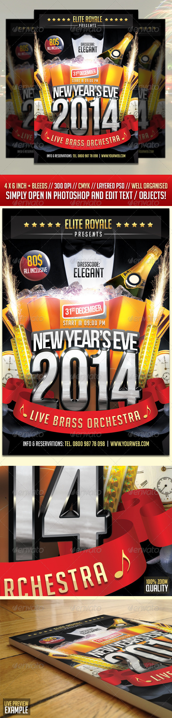 GraphicRiver New Year Eve Elegant Party Flyer 6448091