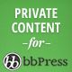bbPress Private Content WordPress Plugin - CodeCanyon Item for Sale