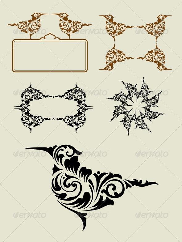 GraphicRiver Bird Element Decoration 6448178