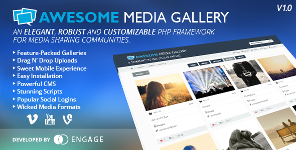 Awesome Media Gallery - CodeCanyon Item for Sale