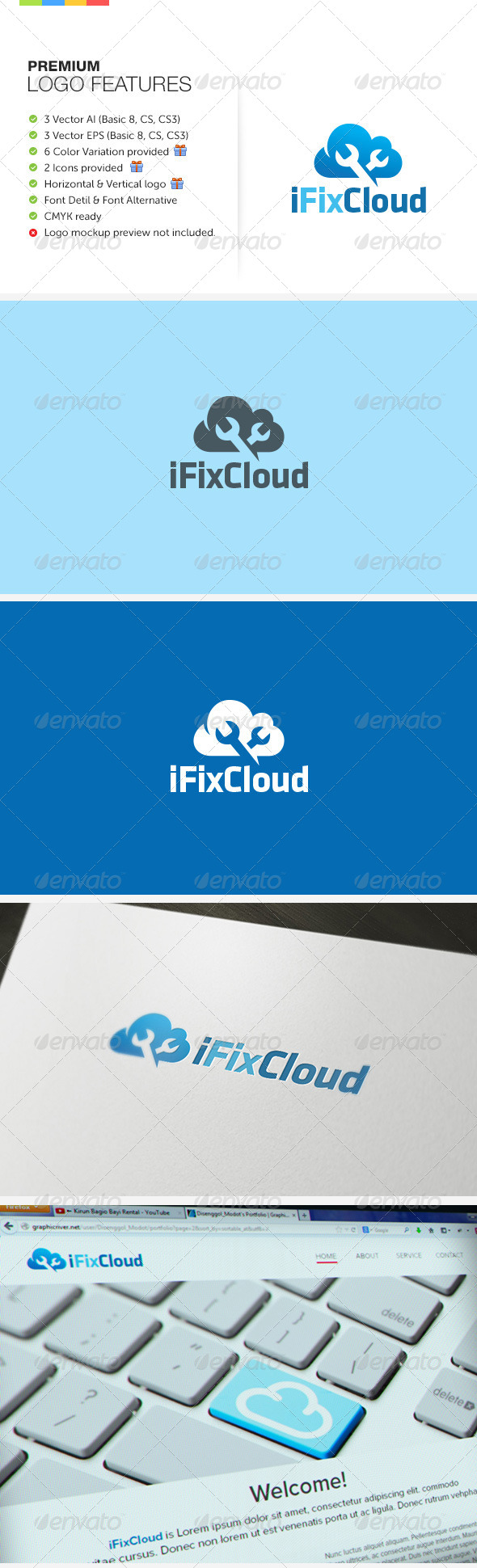 GraphicRiver Fix Cloud Logo 6448608