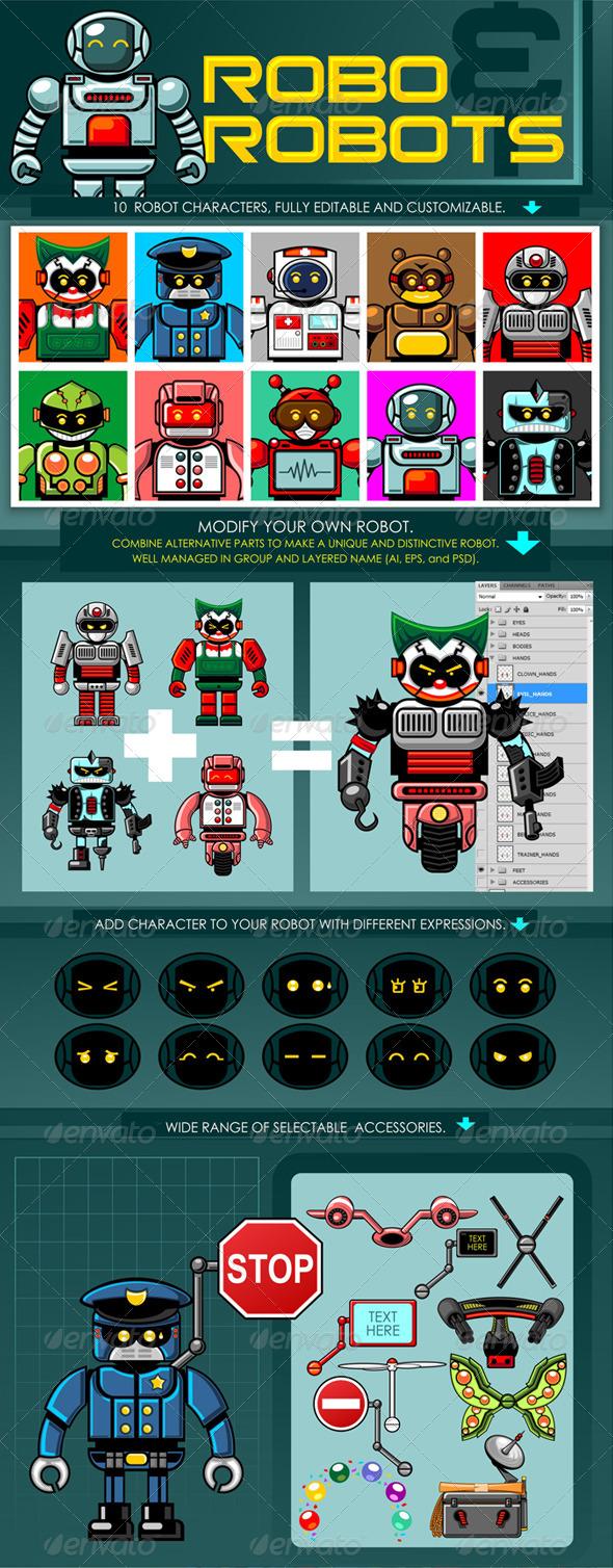 GraphicRiver Robo & Robots 6448935