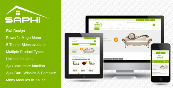 Download SM Saphi - Responsive  Magento Theme nulled download