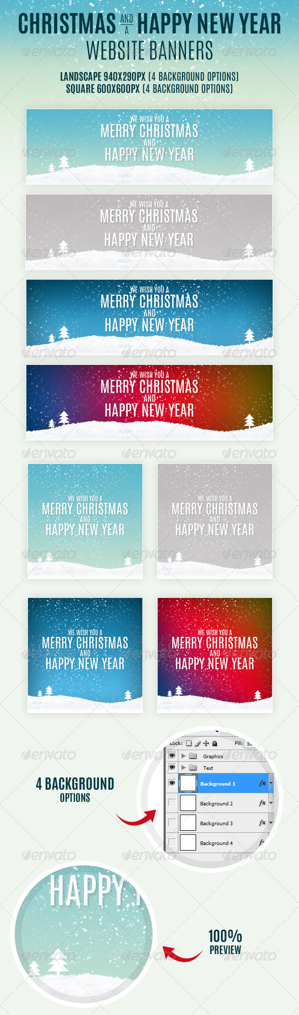 GraphicRiver Christmas And Happy New Year Website Banners 6449038