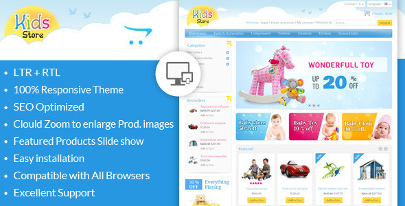 ThemeForest Kids Store OpenCart Responsive Theme 6449246