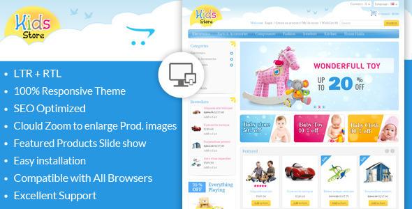 Kids Store - шаблон для детского интернет-магазина игрушек