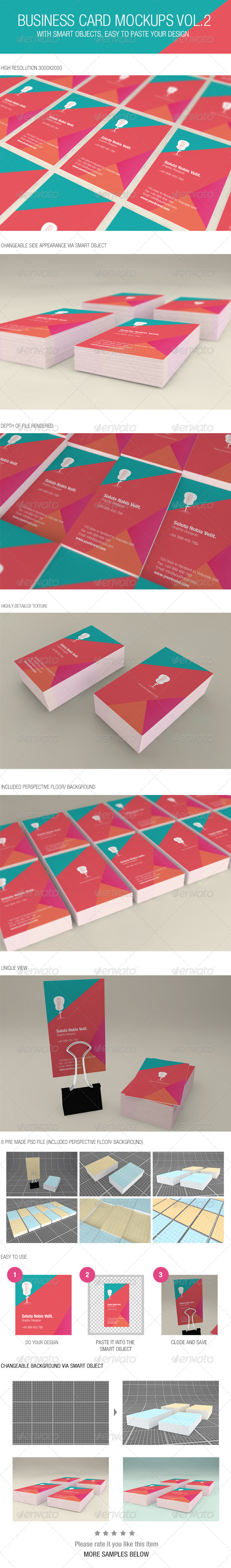 GraphicRiver Business Card Mockups Vol.2 6449572