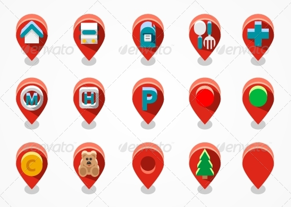 GraphicRiver Red Navigation Icons 6436522
