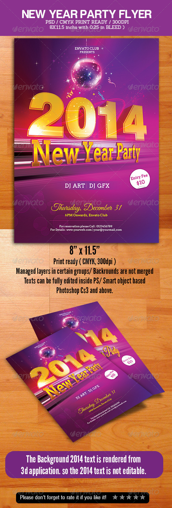 GraphicRiver New Year Party Flyer 6336537
