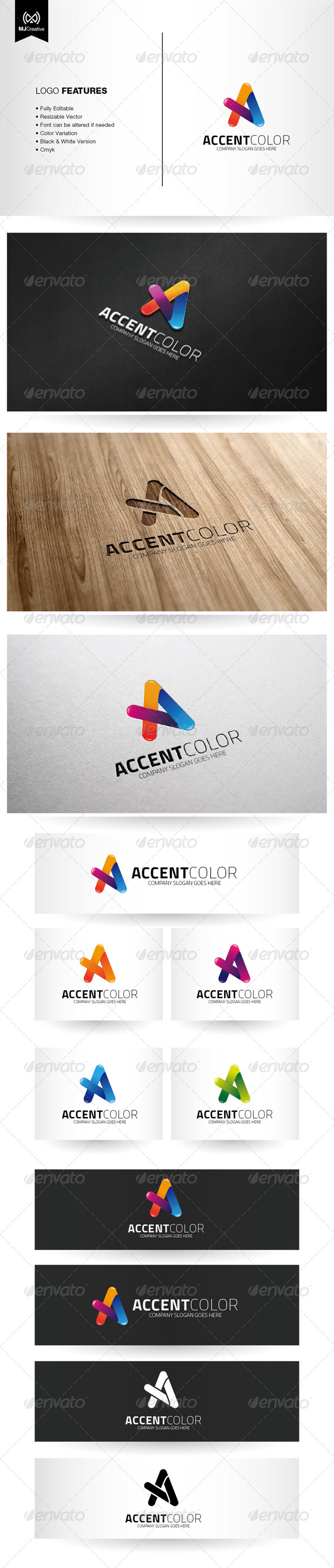 GraphicRiver Colorful Letter A Logo 6449849
