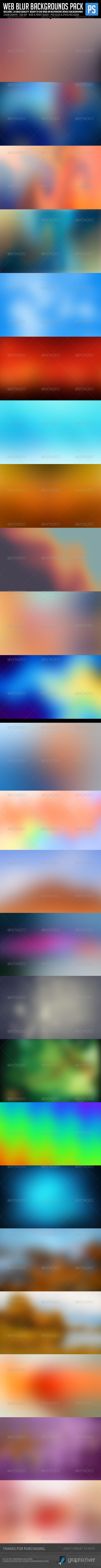 GraphicRiver Web Blur Backgrounds Bundle Pack 6449855