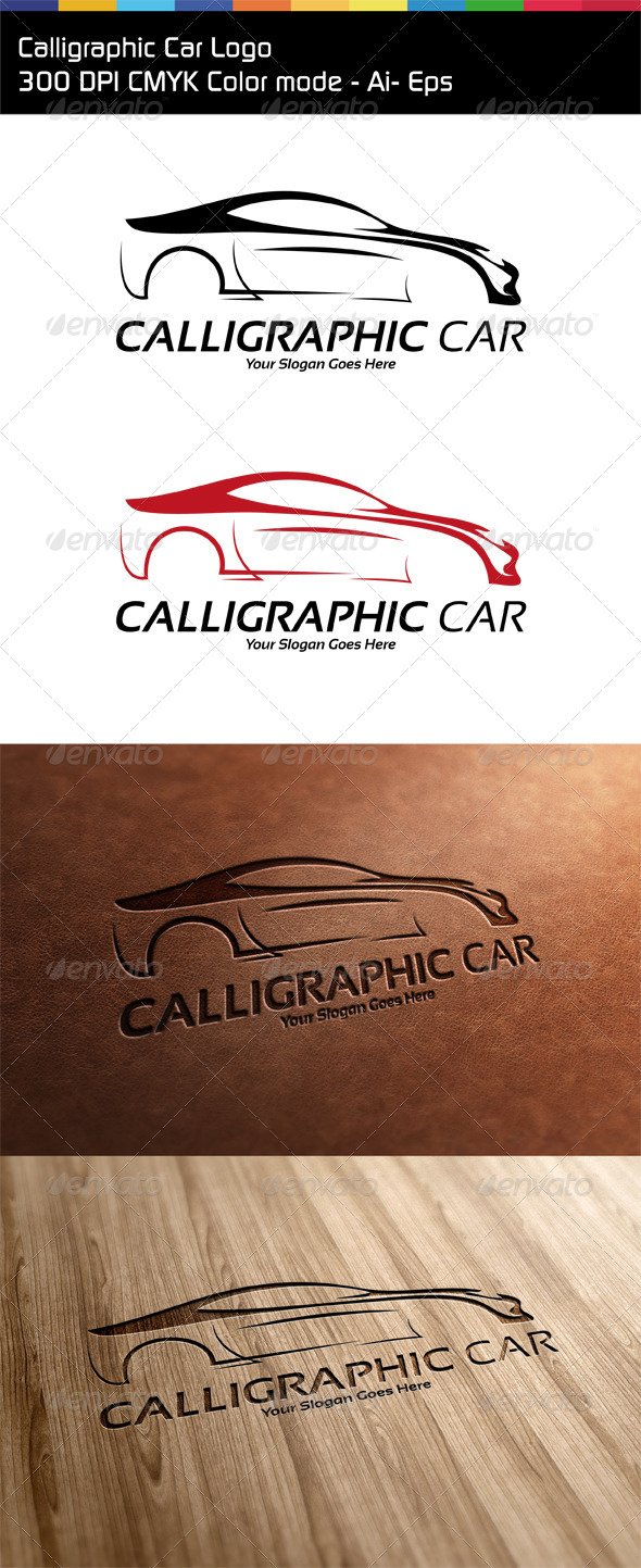 GraphicRiver Calligraphic Car Logo 6449878