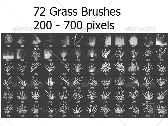 GraphicRiver 72 Photoshop Grass Brushes 6420478