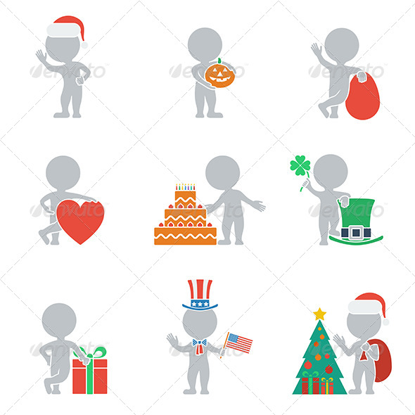 GraphicRiver Flat People Holidays 6450288