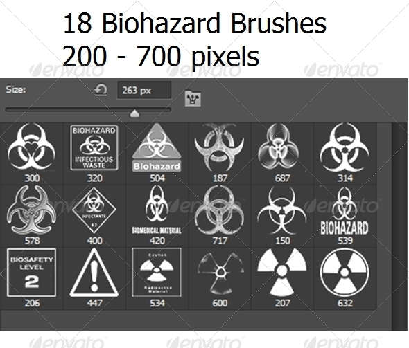 GraphicRiver 18 Photoshop Biohazard Brushes 6420632