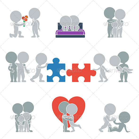 GraphicRiver Flat People Relationships 6450331
