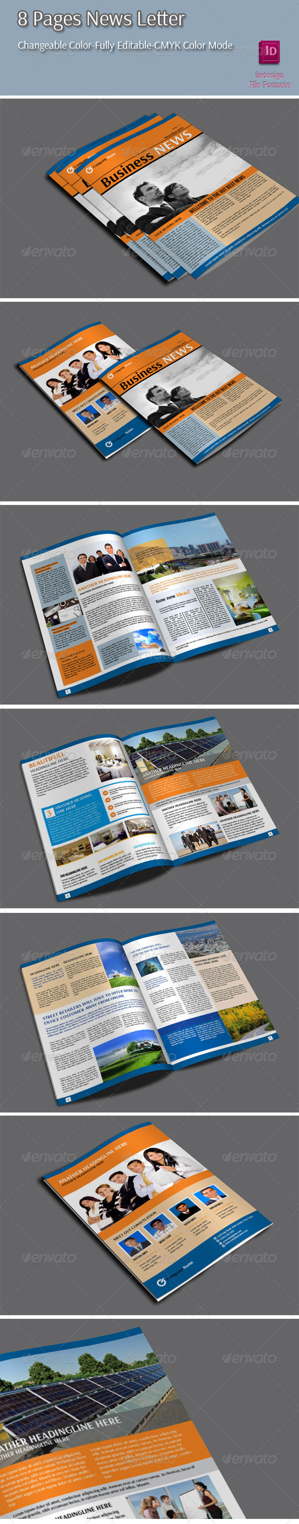 GraphicRiver 8 Pages Newletter 6450642