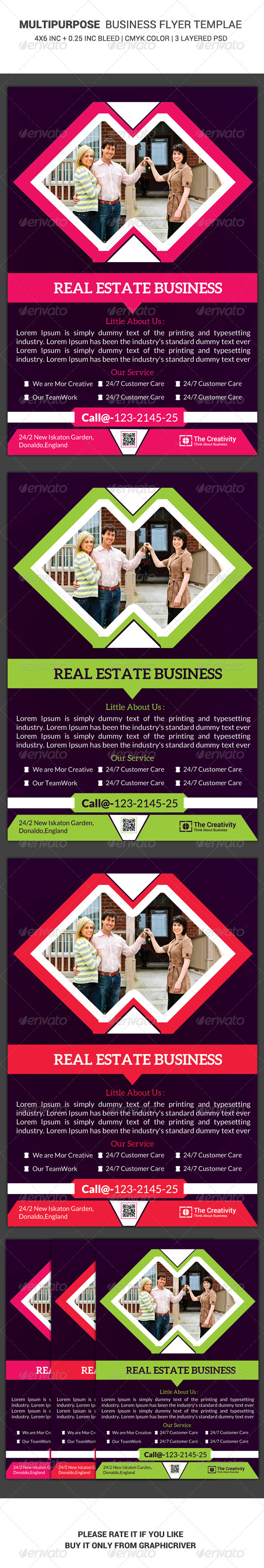 GraphicRiver Real Estate Business Flyer Template 2 6450710