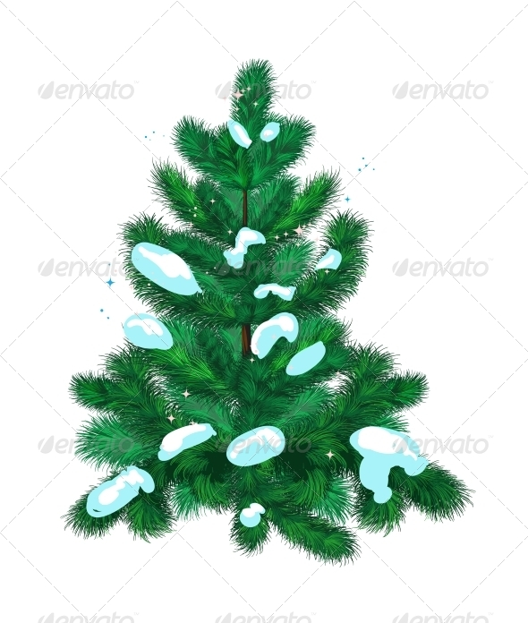 GraphicRiver Fir-Tree with Snow 6450777