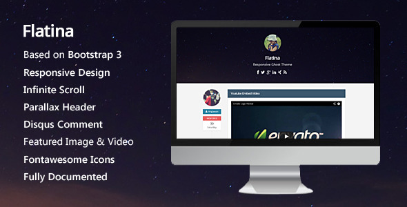ThemeForest Flatina Responsive Ghost Theme 6451005