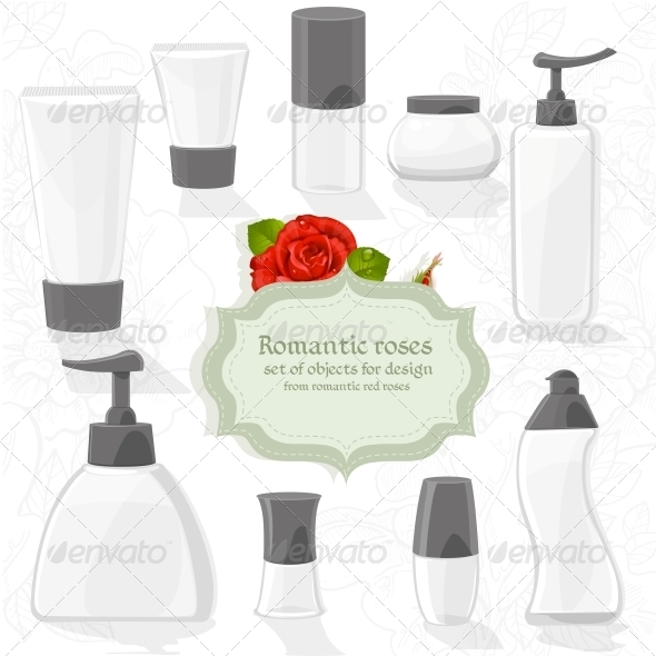 GraphicRiver Set Cosmetic Bottles 6451039