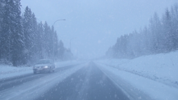 Snowing On The Road