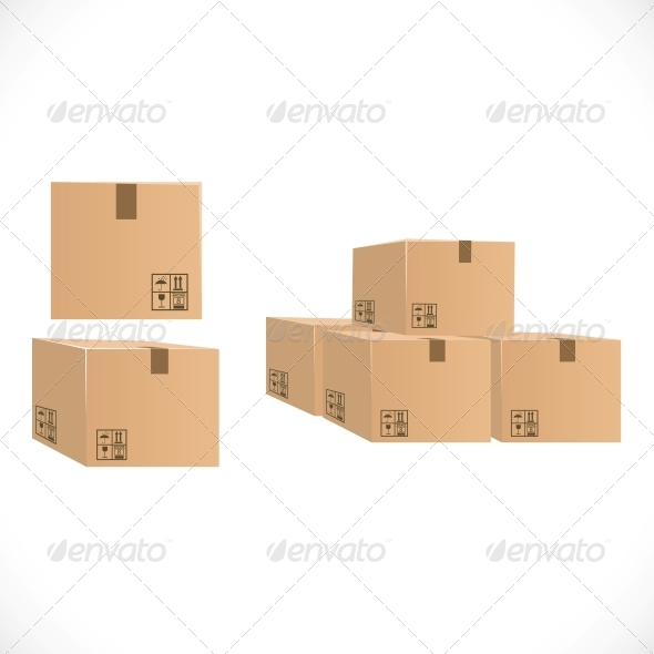 GraphicRiver Packing Boxes for Shipping 6451375
