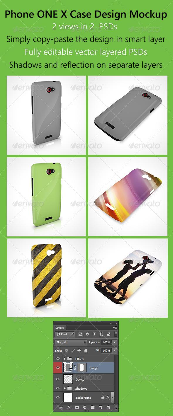 GraphicRiver Phone OneX Case Design Mockup 6426877