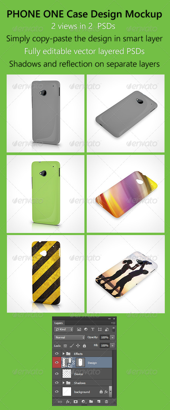 GraphicRiver Phone One Case design mockup 6426865