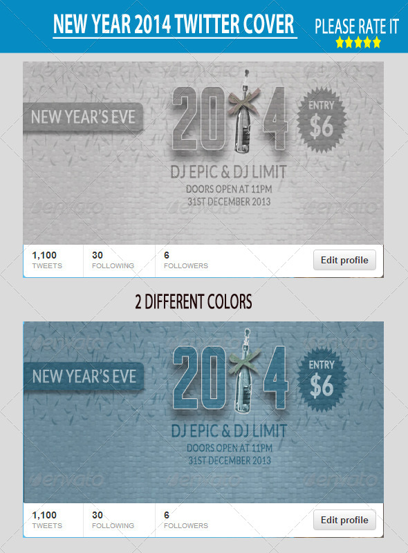 GraphicRiver New Year 2014 Twitter Cover 6451812