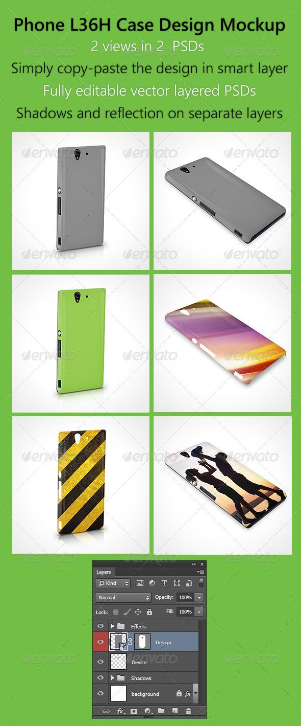 GraphicRiver Phone-L36H Case design mockup 6435624