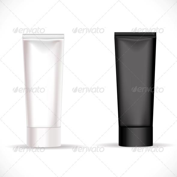 GraphicRiver Black and White Tube for Cream 6452252