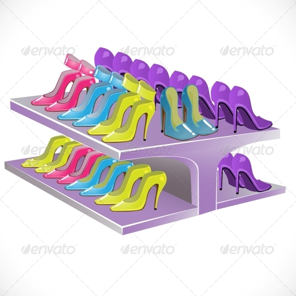 Counter with Female Footwear