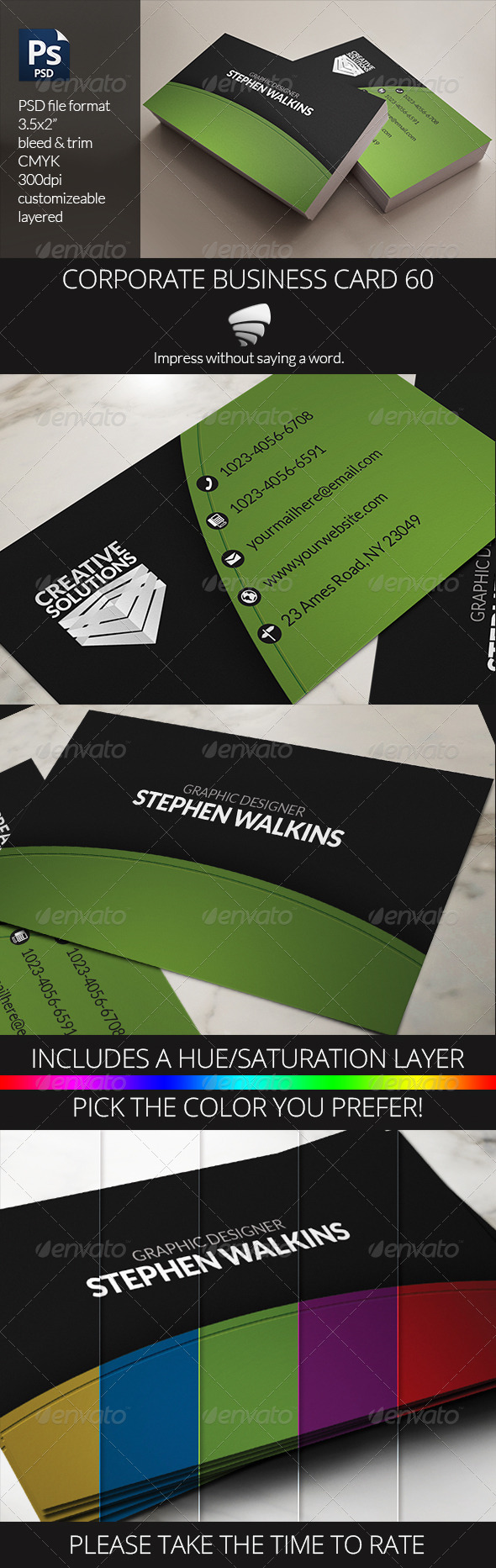 GraphicRiver Corporate Business Card 60 6452312