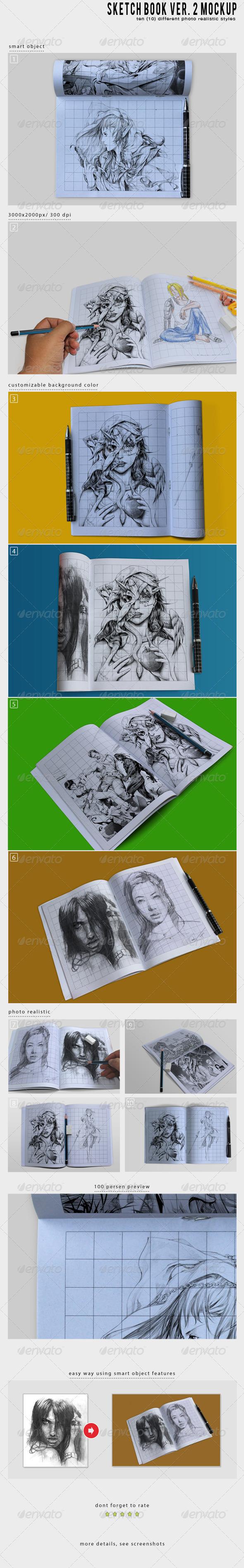 GraphicRiver Sketch Book Ver 2 Mockup 6452324
