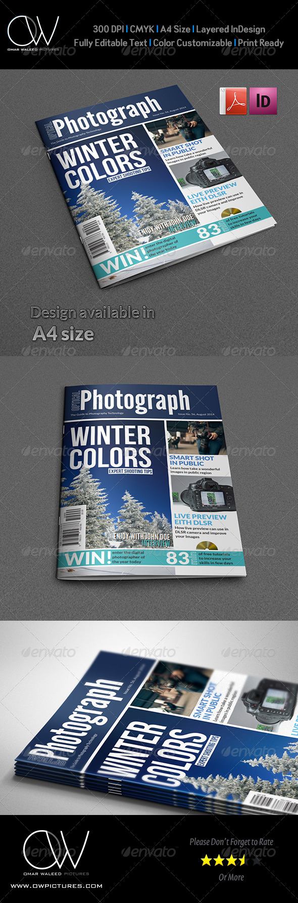 GraphicRiver Photographer Magazine Cover Template Vol.2 6452352