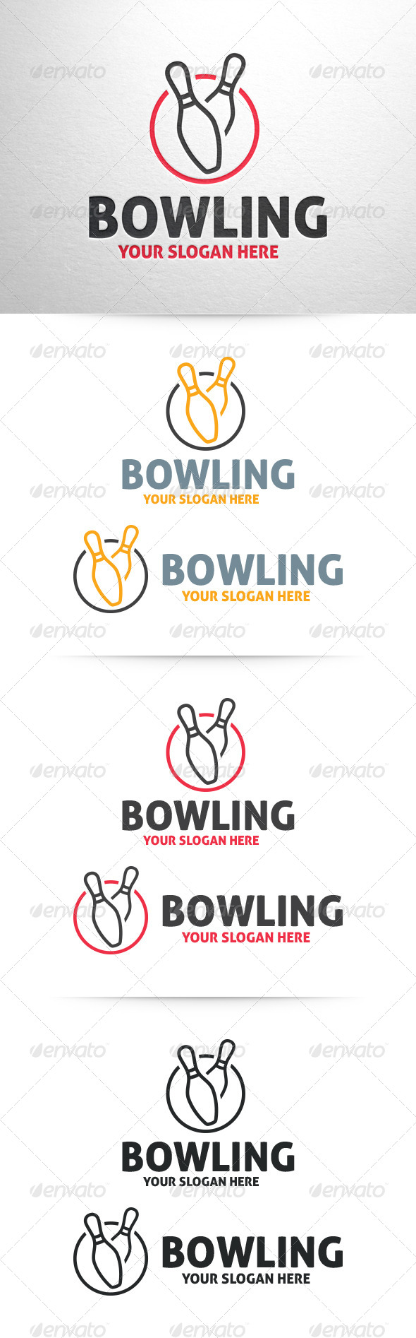 Bowling Logo Template - Part 2