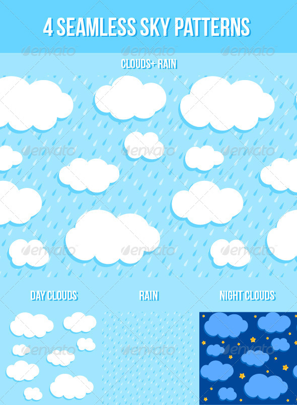 GraphicRiver Sky Seamless Patterns 6452489